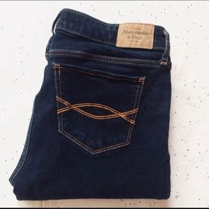 Abercrombie & Fitch dark washed jeans